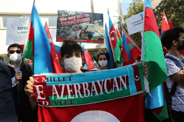 Pro-Azerbaijan rallies have been held in several Turkish cities since the conflict reignited