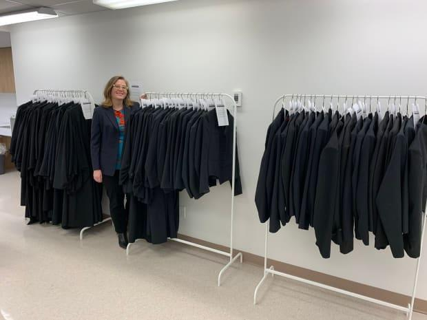 Crown prosecutor Moira Váně started a robe bank for young lawyers who cannot afford the robes needed in court. She has named it the Iris Barry Yake Memorial Robe Bank.