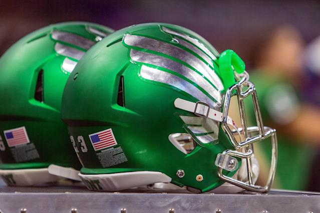 North Texas pulled out an awesome trick punt return against Arkansas. (Photo by John Korduner/Icon Sportswire)