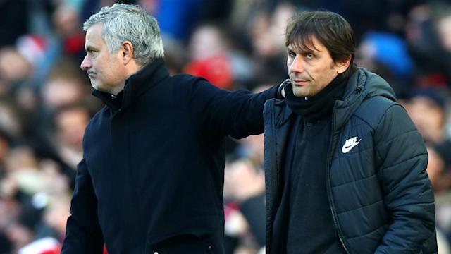 Antonio Conte believes his record through 100 games at Chelsea is strong compared to Jose Mourinho.