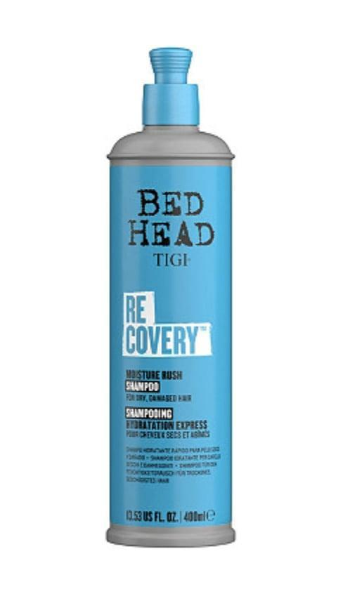 <p><span>Bed Head Recovery Moisture Rush Shampoo</span> ($15) has stood the test of time, leveraging hydration molecules to improve not only softness but also shine. Fans say you should scoop up a bottle to begin the recovery process. They also love its clean, fresh scent.</p>