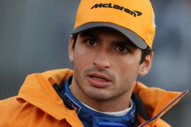 Carlos Sainz, pictured, is among the drivers tipped to replace Vettel at Ferrari (David Davies/PA)