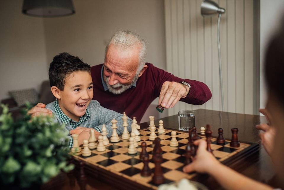 """<p>Turn off your devices and gather around a game board for some old-school fun: No electricity required. Teach the kids a classic or try a new release for brain-boosting benefits that don't feel like work. </p><p><strong>RELATED: </strong><a href=""""https://www.goodhousekeeping.com/life/g29749838/party-games/"""" rel=""""nofollow noopener"""" target=""""_blank"""" data-ylk=""""slk:21 Best Party Games for Adults and Kids to Play for Game Night"""" class=""""link rapid-noclick-resp"""">21 Best Party Games for Adults and Kids to Play for Game Night</a></p>"""