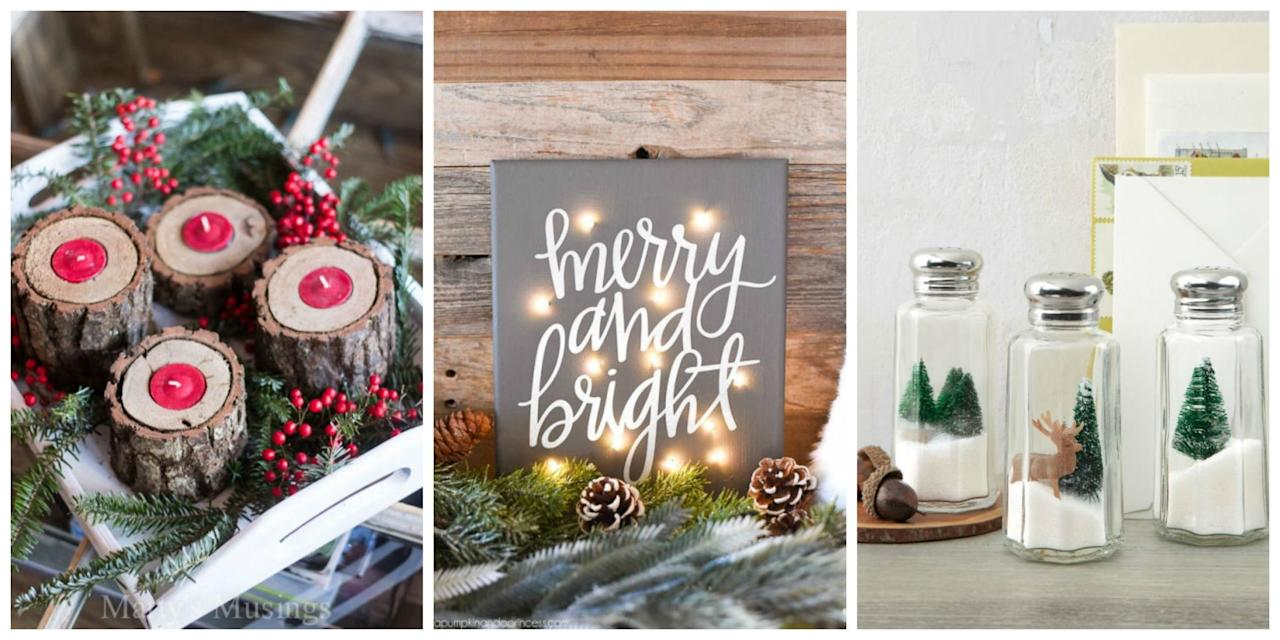 30 diy christmas decorations that are merry and bright for Easy to make christmas decorations at home