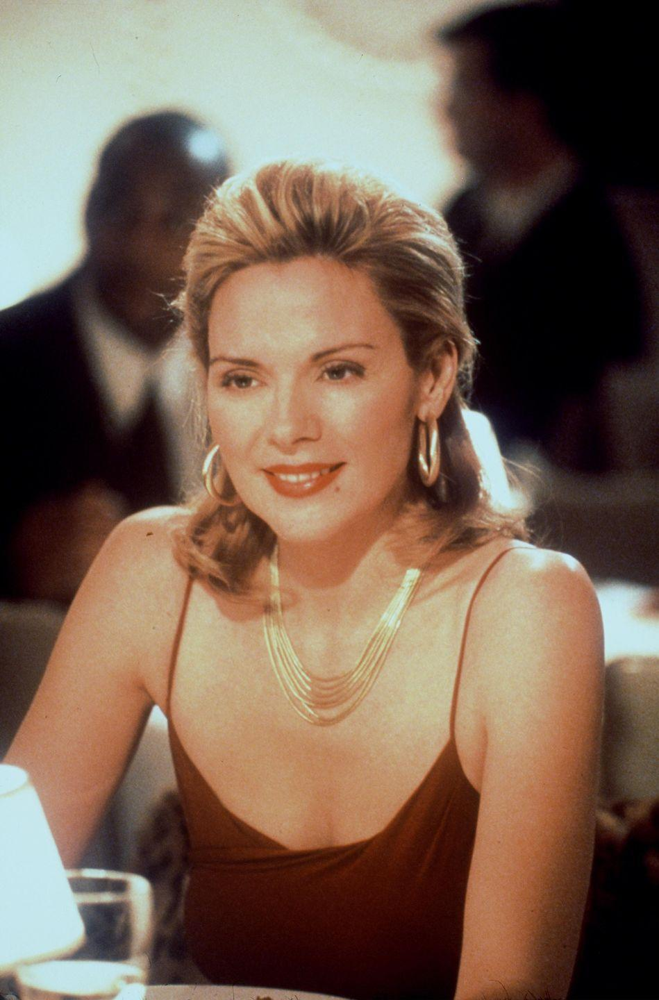 <p>Everything about Samantha oozed sensuality, and that included her jewellery collection. We loved her tactile gold chains which drew attention to her collarbones and her large hoops which reminded us of New York's disco heyday as they danced seductively about her neck. </p>