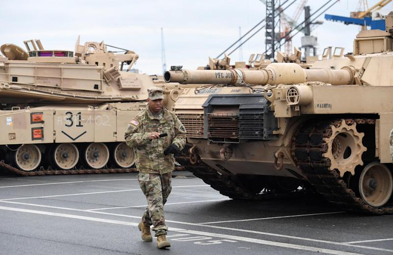Biggest Of US Armaments Since End Of The Cold War Arrive In Europe