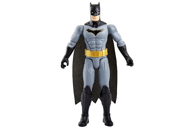 <p>Double the action figure size, double the fun. Batman heads up a fresh assortment of 12-inch heroes and villains, each of which boasts 11-point articulation. (Photo: Mattel/Warner Bros.) </p>