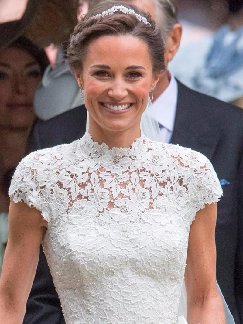 Pippa's wedding earrings hold a special meaning. Source: Getty