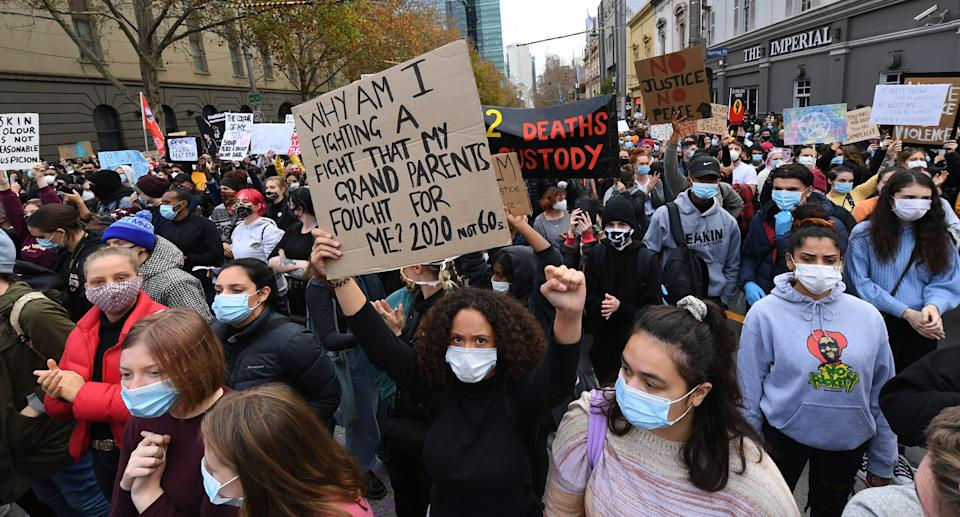 Thousands have taken to the streets across the country to support the Black Lives Matter movement. Source: AAP