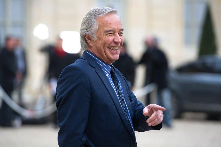 French socialist group president at the Senate Francois Rebsamen leaves the Elysee Palace, November 28, 2012