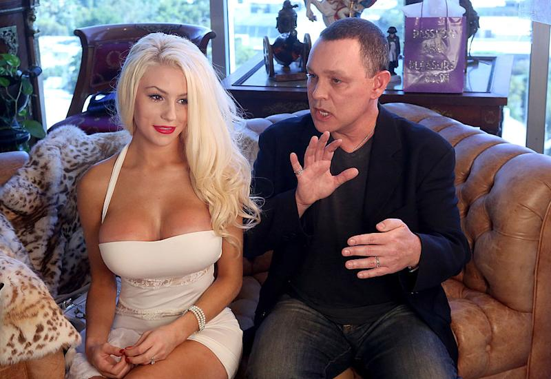 18-year-old Courtney Stodden and actor Doug Hutchinson in 2013 while married