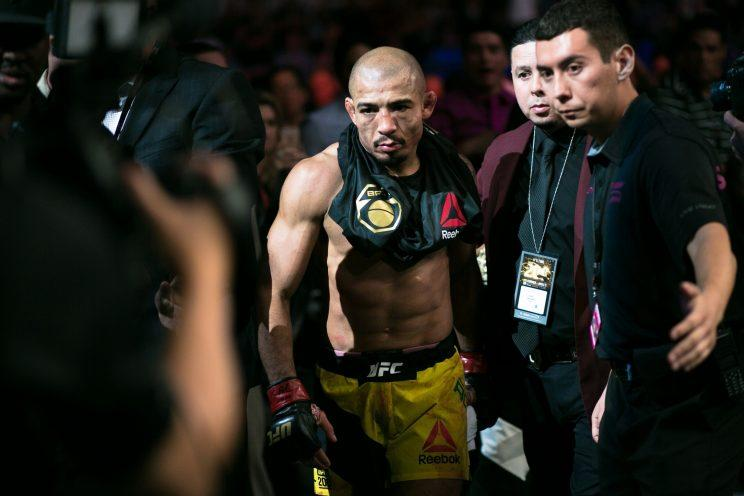 Jose Aldo doesn't have much reason to smile these days. (Getty)