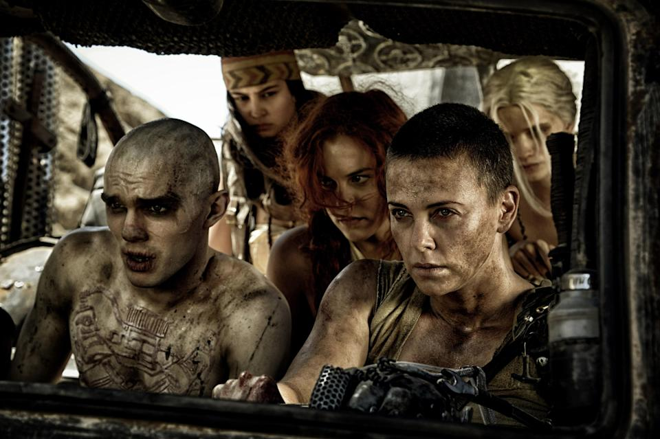 "<p>Want to watch women exact revenge on a world that's done us all wrong? Stream <em>Mad Max: Fury Road</em>. The 2015 action film, which follows a group of female prisoners lead by Imperator Furiosa, played by Charlize Theron, as they rebel against a tyrannical ruler as they search for their onetime homeland. Tom Hardy, who?</p> <p><a href=""https://www.amazon.com/gp/product/B01MDPHCTP"" rel=""nofollow noopener"" target=""_blank"" data-ylk=""slk:Available to rent on Amazon Prime"" class=""link rapid-noclick-resp""><em>Available to rent on Amazon Prime</em></a></p>"