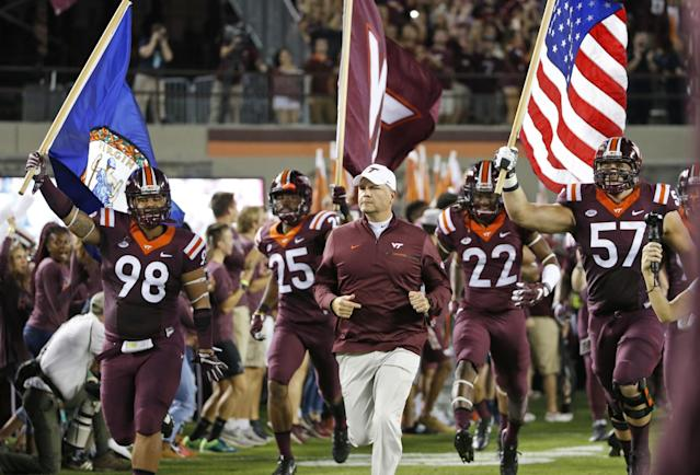 """<p><strong>34. Virginia Tech</strong><br>Top 2017-18 sport: men's indoor track. Trajectory: Up. The Hokies bounced up 12 spots this year, from 40th to 28th, the best finish in school history. In particular, men's track and women's lacrosse had breakthrough seasons, although the latter created <a href=""""https://deadspin.com/video-shows-virginia-tech-womens-lacrosse-team-chanting-1824096912"""" rel=""""nofollow noopener"""" target=""""_blank"""" data-ylk=""""slk:some regrettable headlines"""" class=""""link rapid-noclick-resp"""">some regrettable headlines</a> along the way. </p>"""