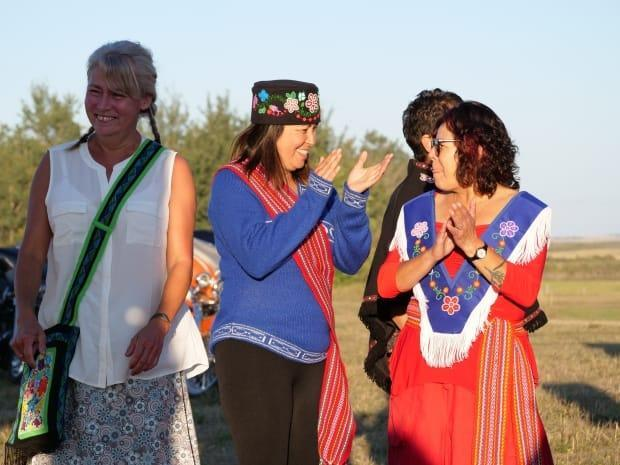 Participants at this year's Batoche Métis Fall Festival.  (Submitted by Métis Nation-Saskatchewan - image credit)