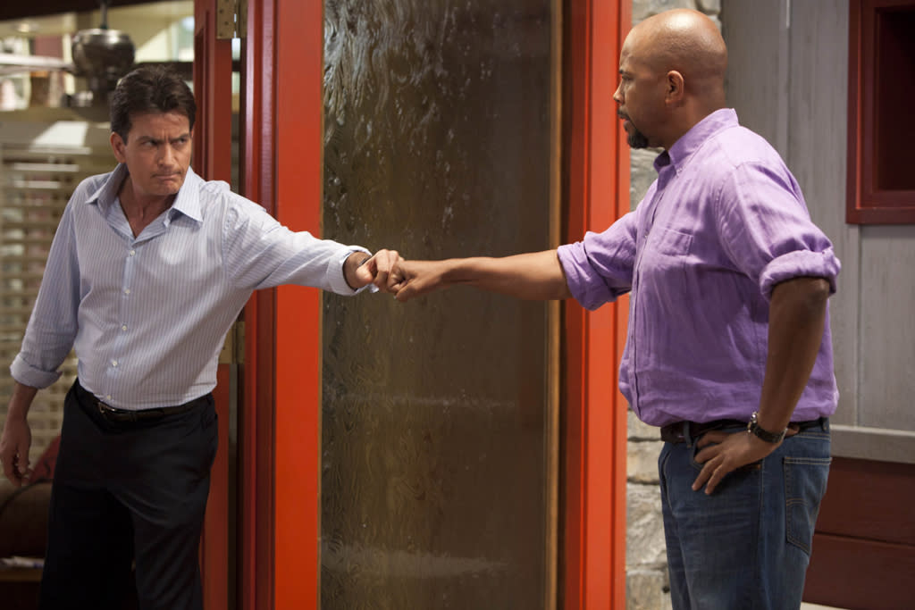 "Charlie Sheen and Michael Boatman in ""Anger Management"" on FX."