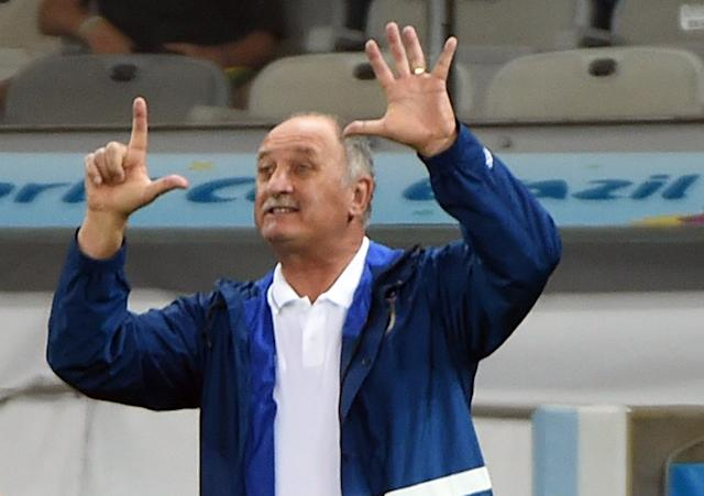 GALLERY ONLY Brazil x Germany World Cup 2014 Felipe Scolari