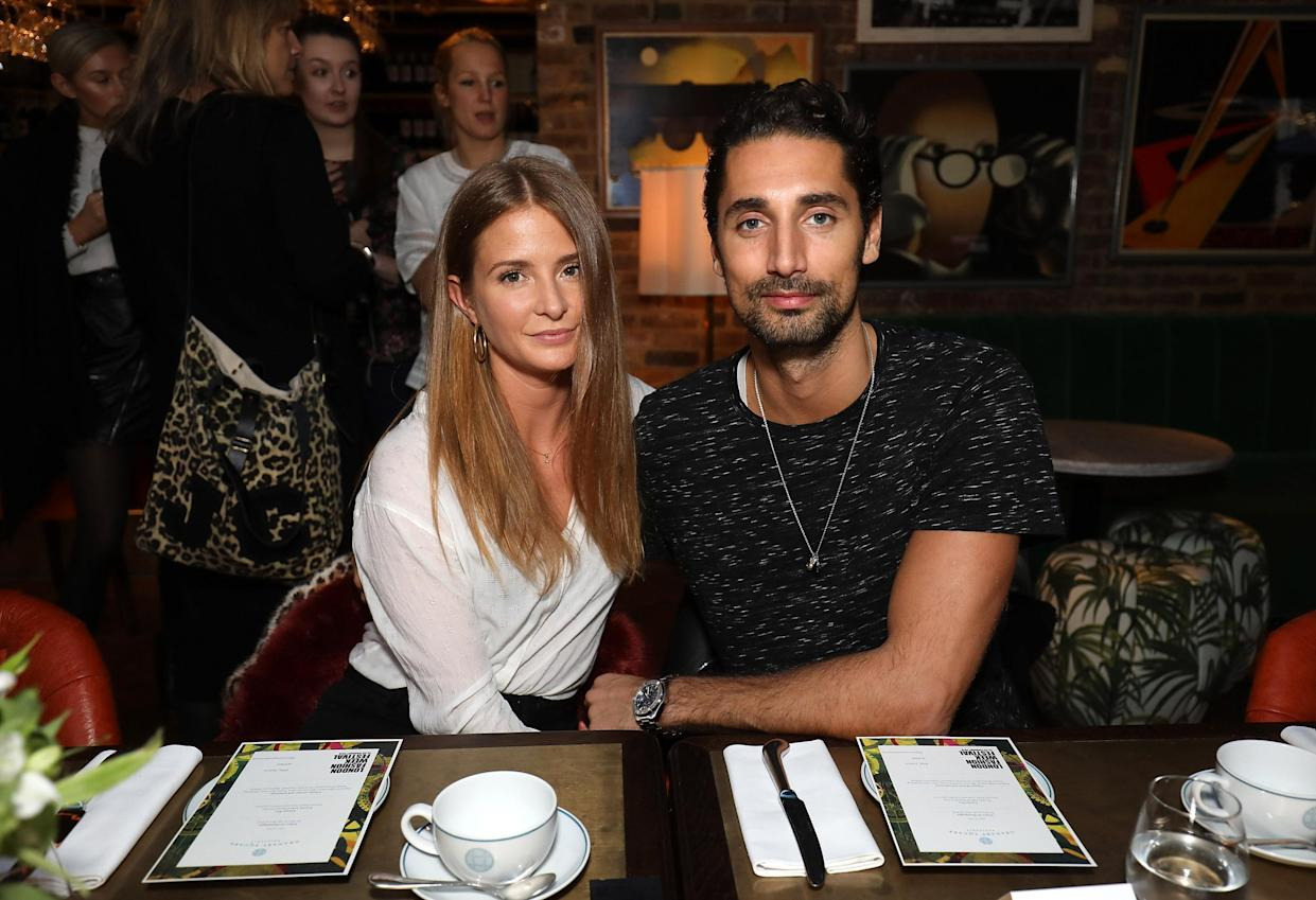 LONDON, ENGLAND - JANUARY 30:  Millie Mackintosh and Hugo Taylor attend an afternoon tea event to discuss the upcoming London Fashion Week Festival at Granary Square Brasserie on January 30, 2018 in London, England.  London Fashion Week Festival runs from 22nd - 25th February 2018.  (Photo by Tim P. Whitby/Tim P. Whitby/Getty Images)