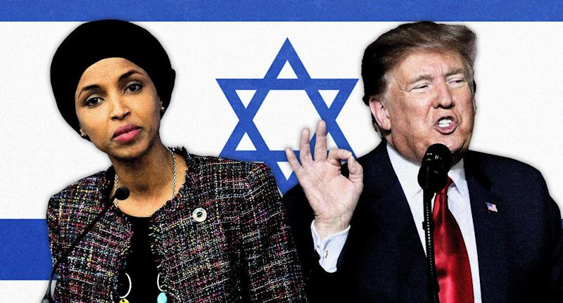 Rep. Ilhan Omar and President Donald Trump. (Photo illustration: Yahoo News; photos: AP)