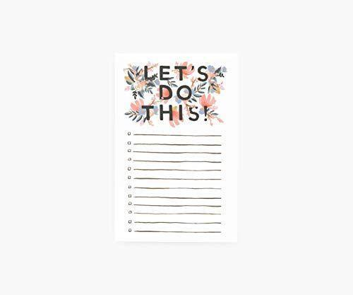 """<p><strong>RIFLE PAPER CO.</strong></p><p>amazon.com</p><p><strong>$12.00</strong></p><p><a href=""""https://www.amazon.com/dp/B01DXB6FN8?tag=syn-yahoo-20&ascsubtag=%5Bartid%7C10055.g.1432%5Bsrc%7Cyahoo-us"""" rel=""""nofollow noopener"""" target=""""_blank"""" data-ylk=""""slk:Shop Now"""" class=""""link rapid-noclick-resp"""">Shop Now</a></p><p>She'll be proud to display her to-do list on this pretty pad by the Rifle Paper Co. It comes with 75 tear-off sheets.</p>"""
