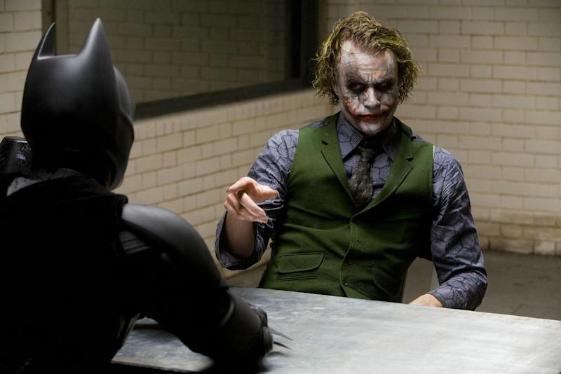 Ledger as Joker in The Dark Knight (Credit: Warner Bros)