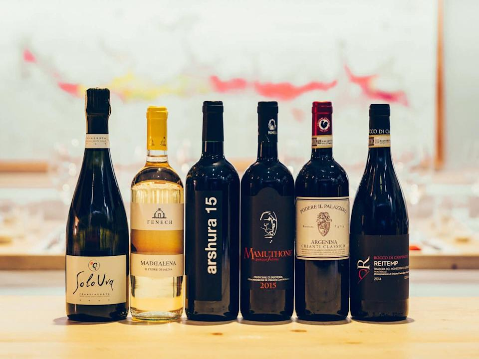 """<p>Perfect for <a href=""""https://www.marthastewart.com/1536434/italian-wine-beginners-guide-chianti-prosecco"""" rel=""""nofollow noopener"""" target=""""_blank"""" data-ylk=""""slk:Italophiles"""" class=""""link rapid-noclick-resp"""">Italophiles</a> or any natural wine lover, this wine club subscription makes fall and spring shipments, for an annual total of 24 bottles (or more). The unique and premium organic Italian wines come from small producers that you won't find anywhere else.</p> <p><strong><em>Buy Now:</em></strong><em> Roscioli Wine Club, from $210 for six bottle shipment, </em><a href=""""https://roscioliwineclub.com/?utm_source=Newsletter%20Roscioli%20Customers%20%28EN%29&utm_campaign=84717f86a1-members_upgrades_COPY_01&utm_medium=email&utm_term=0_6ba64db552-84717f86a1-348763297&mc_cid=84717f86a1&mc_eid=60bfa60db3#start"""" rel=""""nofollow noopener"""" target=""""_blank"""" data-ylk=""""slk:roscioliwineclub.com"""" class=""""link rapid-noclick-resp""""><em>roscioliwineclub.com</em></a>.</p>"""