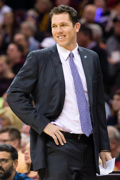 Warriors assistant Luke Walton will be an attractive head-coaching candidate this summer. (Getty Images)