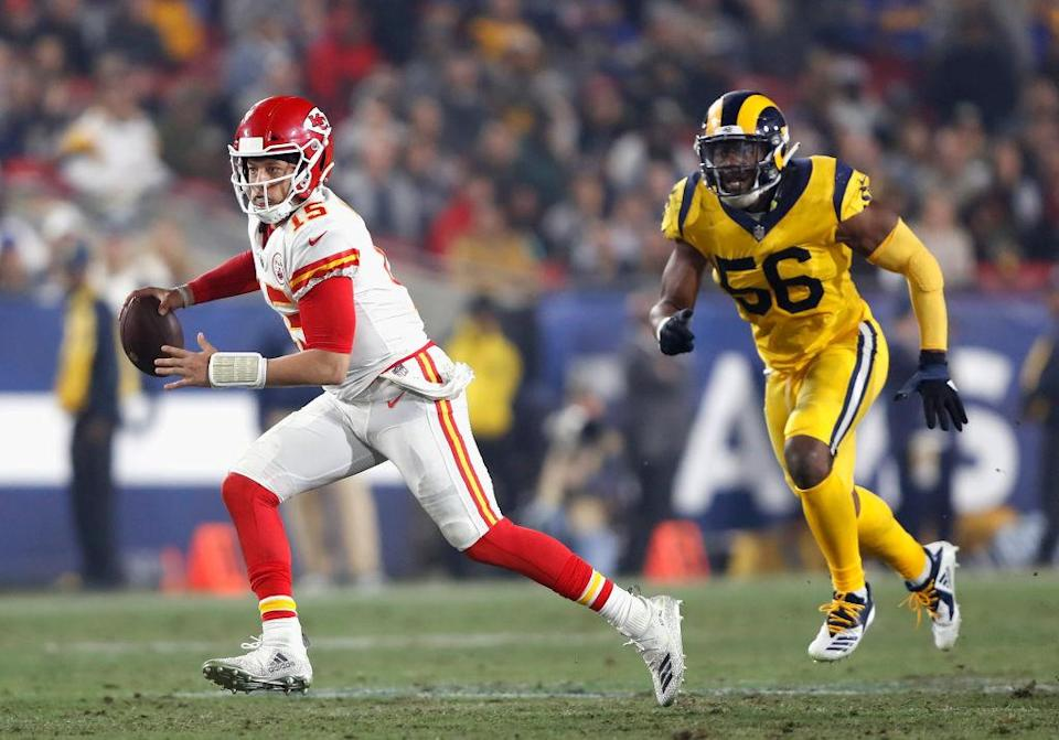 We'd take everything about this rematch but the Rams' uniforms. (Getty)