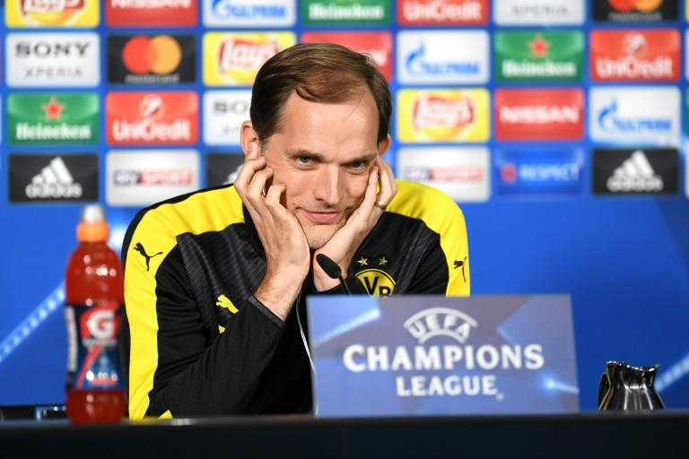 Dortmund's head coach Thomas Tuchel attends a press conference in Dortmund, western Germany on April 10, 2017 on the eve of their Champions League football match between against AS Monaco