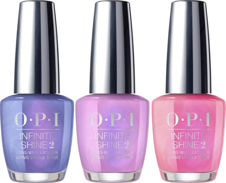 <p>We adore all the vibrant shades in this <span>OPI Shine On Infinite Shine Trio</span> ($20).</p>