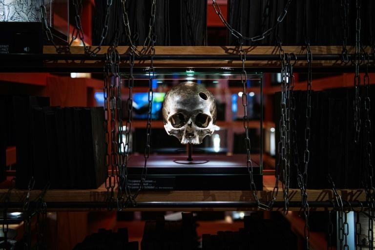 The Trepanned Skull sets the tone at the HEX!, a museum of Witch Hunt, in Ribe, Denmark