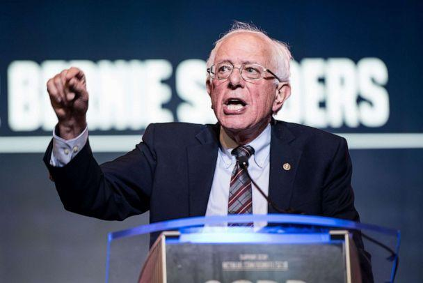 PHOTO: Democratic presidential candidate, Sen. Bernie Sanders speaks to the crowd during the 2019 South Carolina Democratic Party State Convention on June 22, 2019, in Columbia, S.C. (Sean Rayford/Getty Images, FILE)