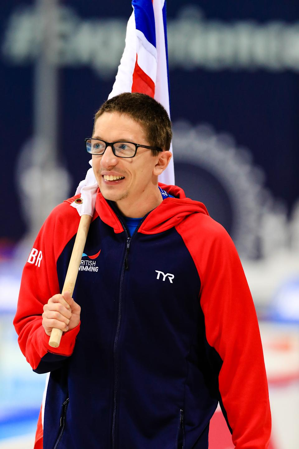 Scott Quin had flag-bearing honours at the 2019 World Para Swimming Allianz Championships (Picture:  Georgie Kerr/British Swimming)