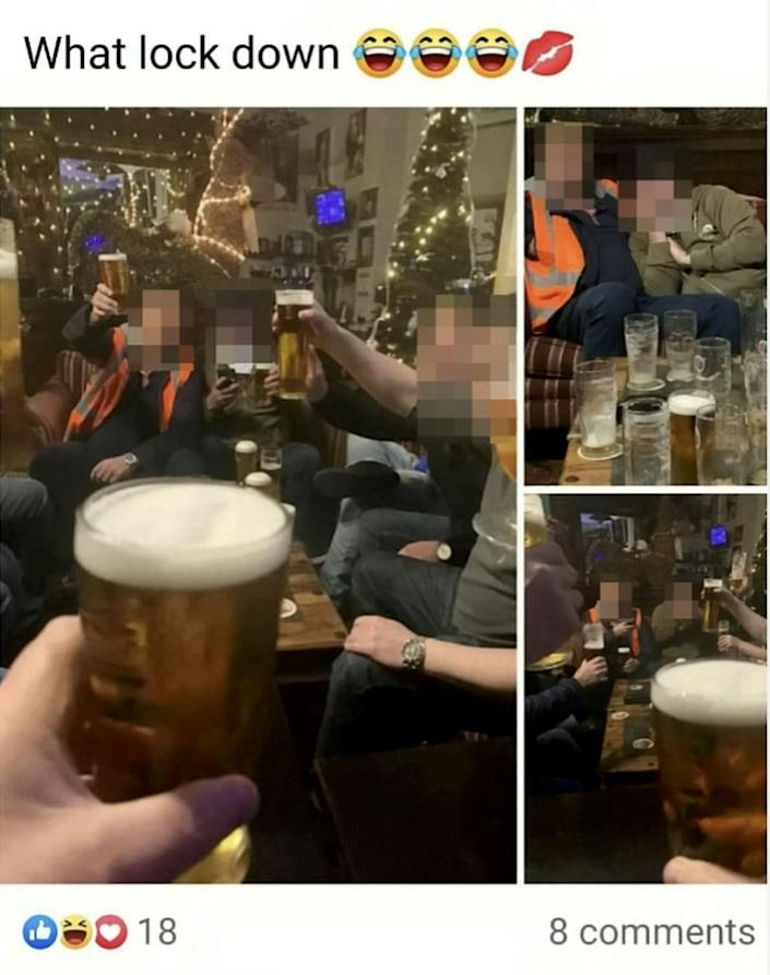Police raided the hotel after several pictures were posted on Facebook (SWNS)