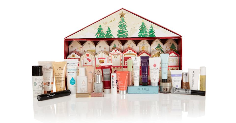 <p>Filled with beauty bits worth over £250, this calendar costs £35 when you spend £35 in store. <em>Available at M&S. </em> </p>