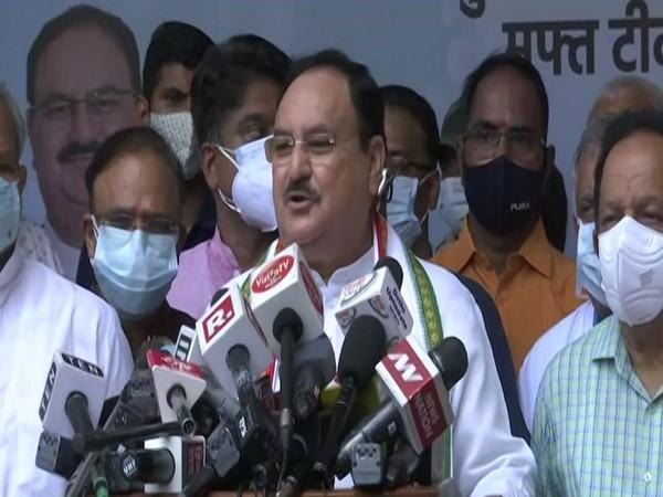 JP Nadda speaking to reporters in Delhi on Monday. [Photo/ANI]