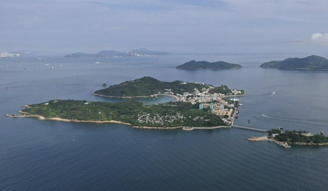 The Lantau Tomorrow Vision project will see ocean reclaimed near Peng Chau (middle) and Sunshine Island (back left). Photo: Martin Chan