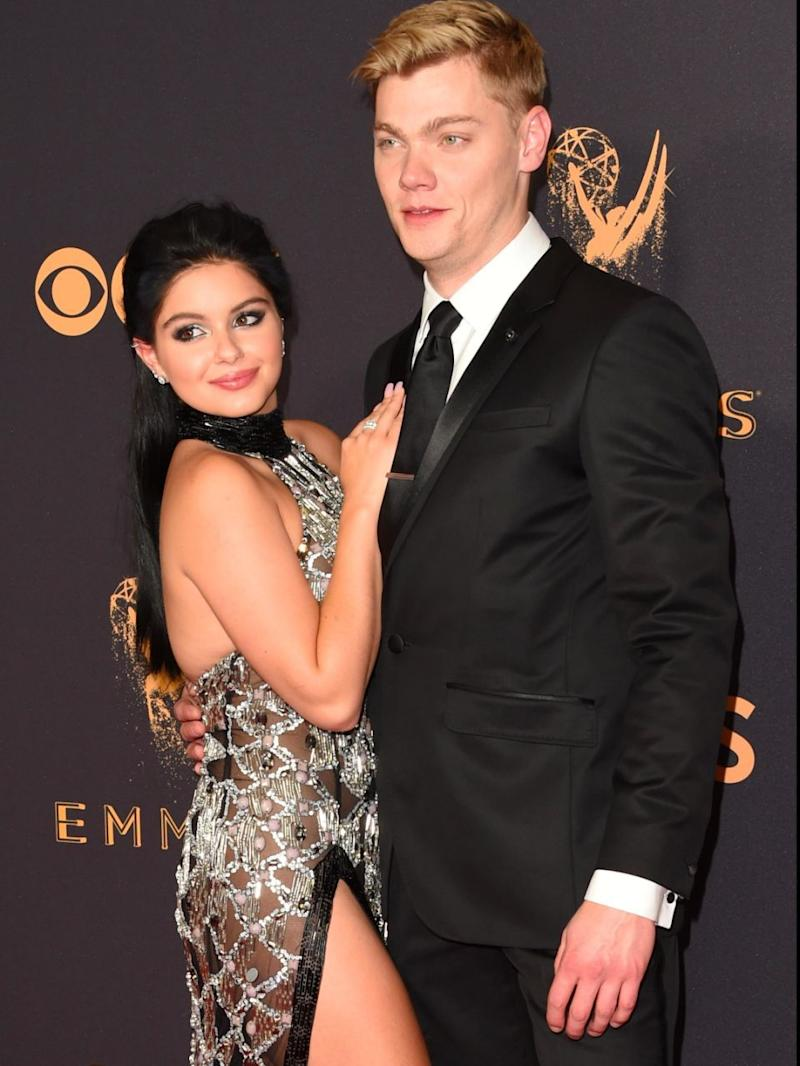 Ariel and her boyfriend Levi Meaden at the 2017 Emmys. Source: Getty