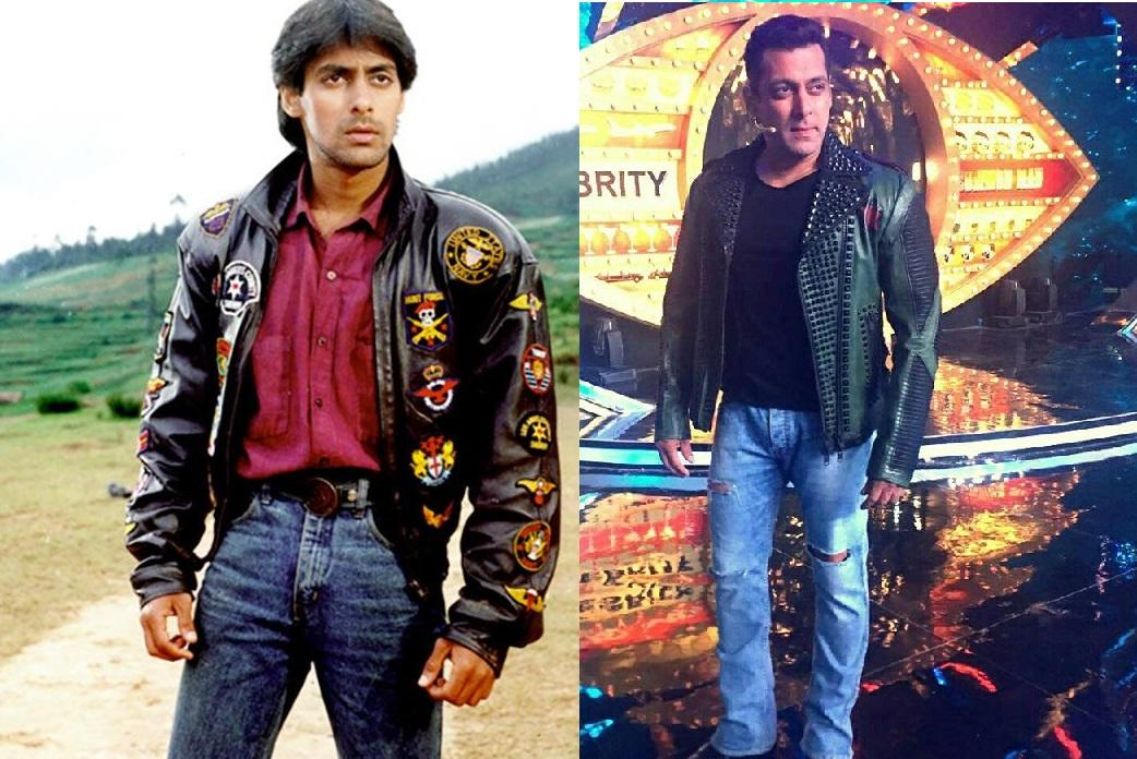 <p>Bollywood's original bad boy looked way different when he had made his first appearance on the silver screen. For way too many movies including <em>Maine Pyar Kiya, Saajan</em>, and <em>Hum Aapke Hai Kaun,</em> he remained the lean and lanky boy next door. It was with <em>Pyar Kiya to Darna Kya</em>, opposite Kajol, that he introduced his brand new built up body to his audience. Things have only gotten better since then. </p>
