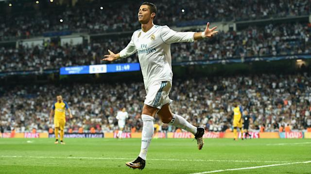 Cristiano Ronaldo was at the double as Real Madrid started their Champions League defence with a 3-0 win over APOEL.