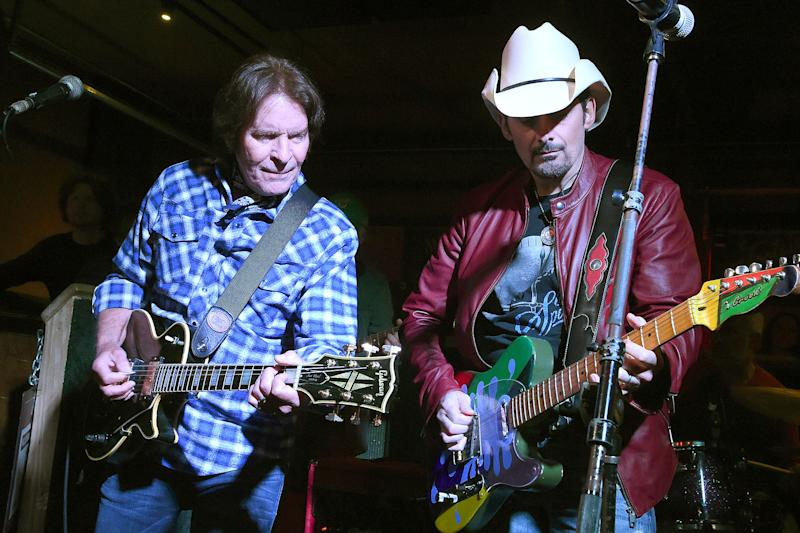 e347a5ccc1775 WATCH  Brad Paisley and John Fogerty Team Up in a Concert Honoring Veterans