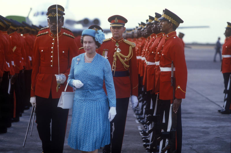 Queen Elizabeth II, Jamaica, 13th February 1983. (Photo by John Shelley Collection/Avalon/Getty Images)