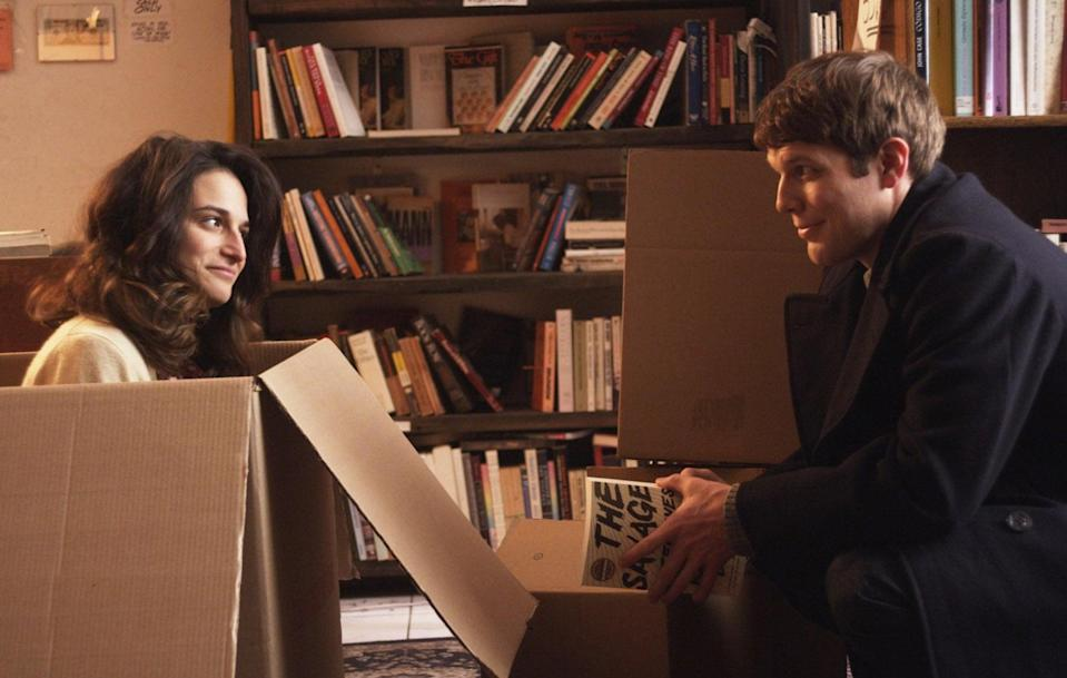 """<p>Comedian Donna Stern (Jenny Slate) is dumped by her boyfriend who leaves her to be with her friend. Donna is sent into a tailspin of emotions and ends up hooking up with a guy named Max (Jake Lacy), resulting in an unplanned pregnancy. Typical rom-com stuff, right?</p> <p><a href=""""https://www.netflix.com/title/70301275"""" class=""""link rapid-noclick-resp"""" rel=""""nofollow noopener"""" target=""""_blank"""" data-ylk=""""slk:Watch Obvious Child on Netflix now."""">Watch <strong>Obvious Child</strong> on Netflix now.</a></p>"""