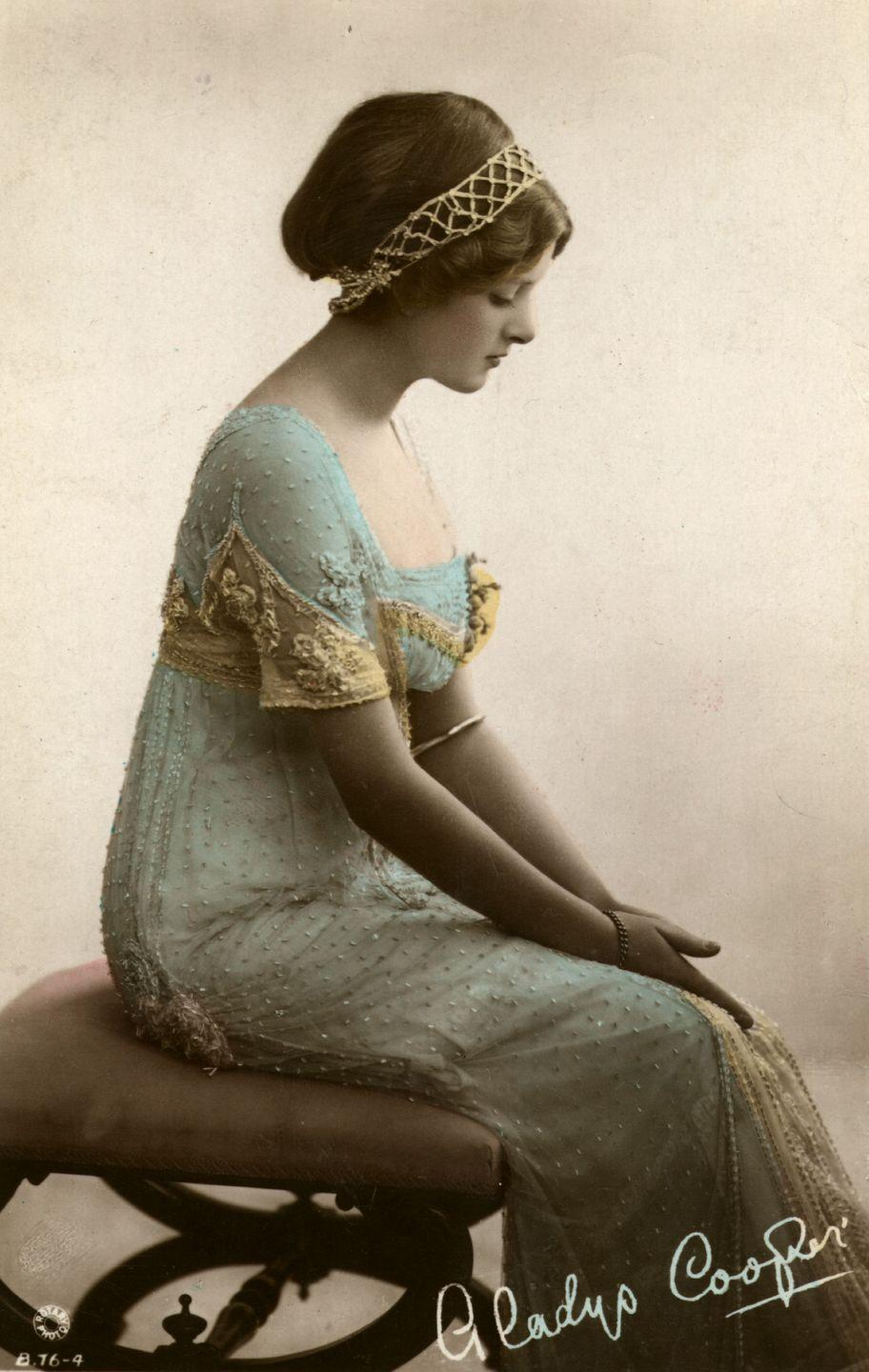 <p>Cooper was such a beautiful child that her mother started her in modeling at the age of six. While photography was still a relatively new thing, the rise of postcards allowed people to send each other photographic prints for a low price, and Gladys—and one of her sisters, Doris—were featured in many of these. </p>