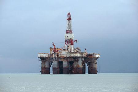 FILE PHOTO: An oil rig off the coast of Johor