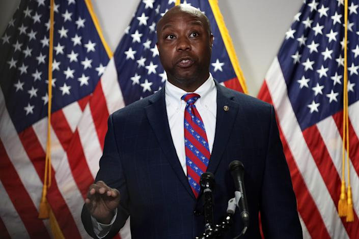 U.S. Sen. Tim Scott on June 23, 2020, in Washington, DC.