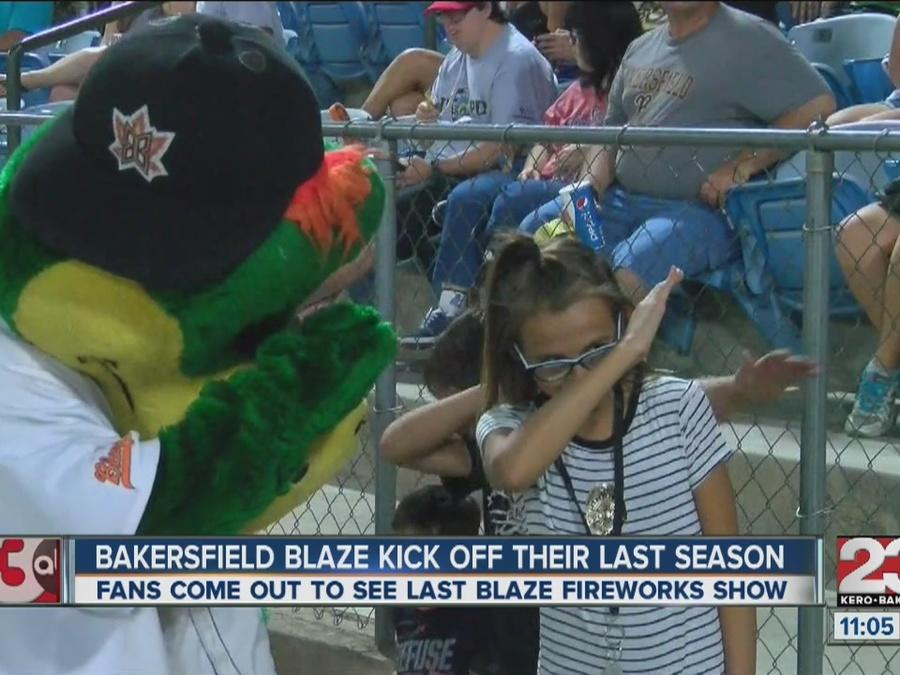 Fireworks cap off the final Saturday night regular season game the Blaze will play in Bakersfield.