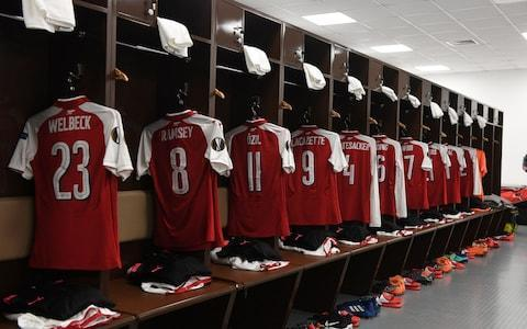 Arsenal dressing room - Credit: GETTY IMAGES