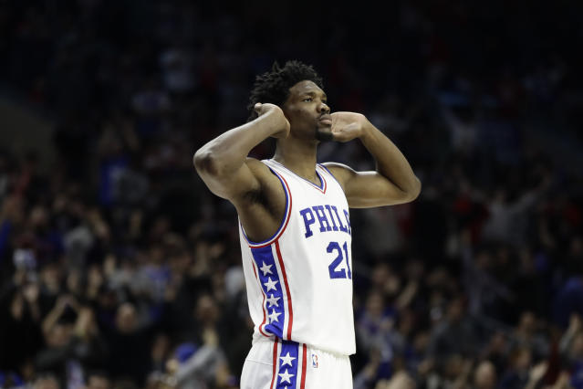 Joel Embiid is just waiting to hear that he's been cleared to return. (AP)
