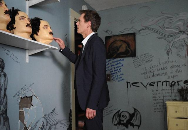 "Ryan Hardy (Kevin Bacon) discovers the cult house in the ""Chapter Two"" episode of ""The Following."""